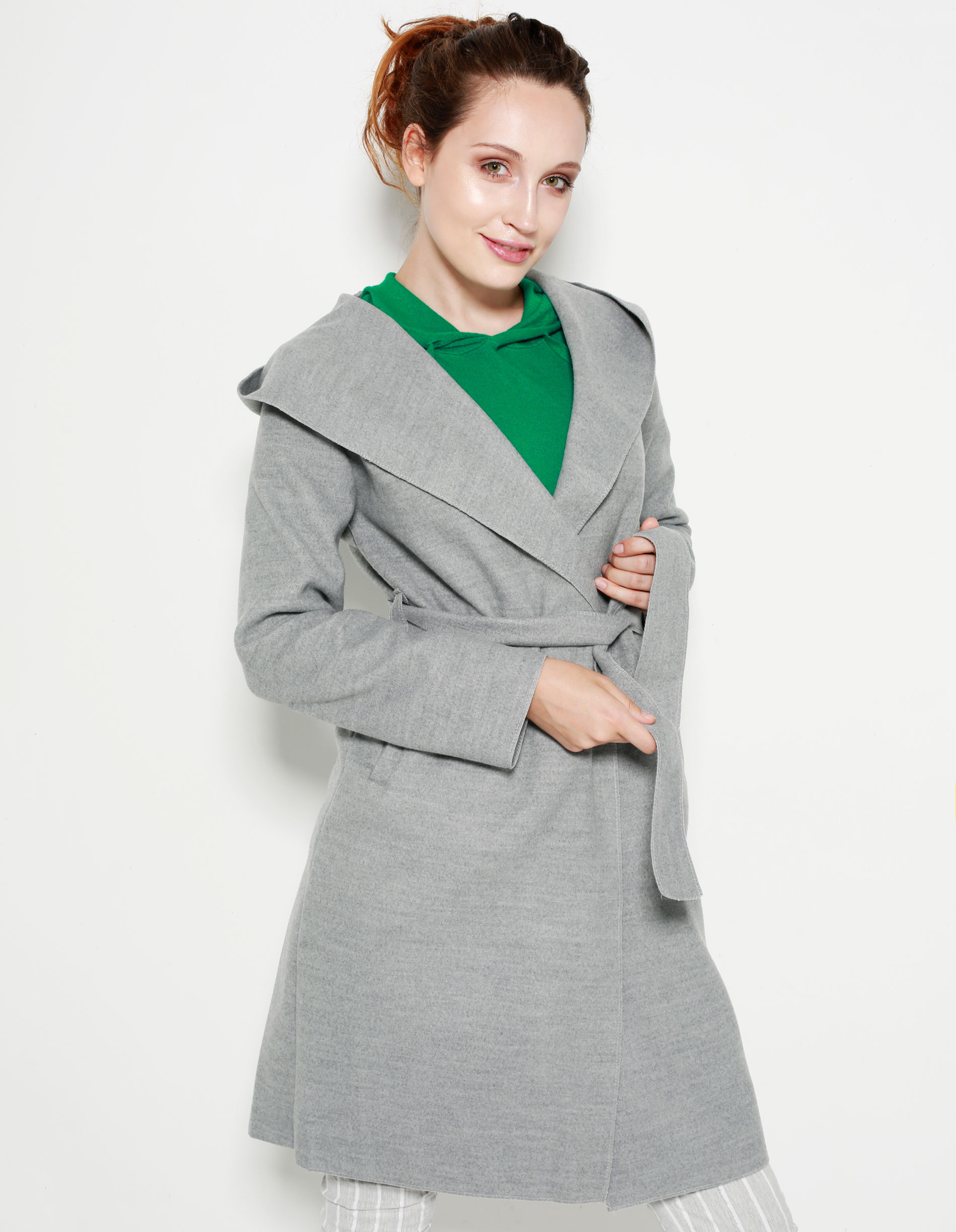 Płaszcz materiałowy - 65-6292 GR CH - Unisono