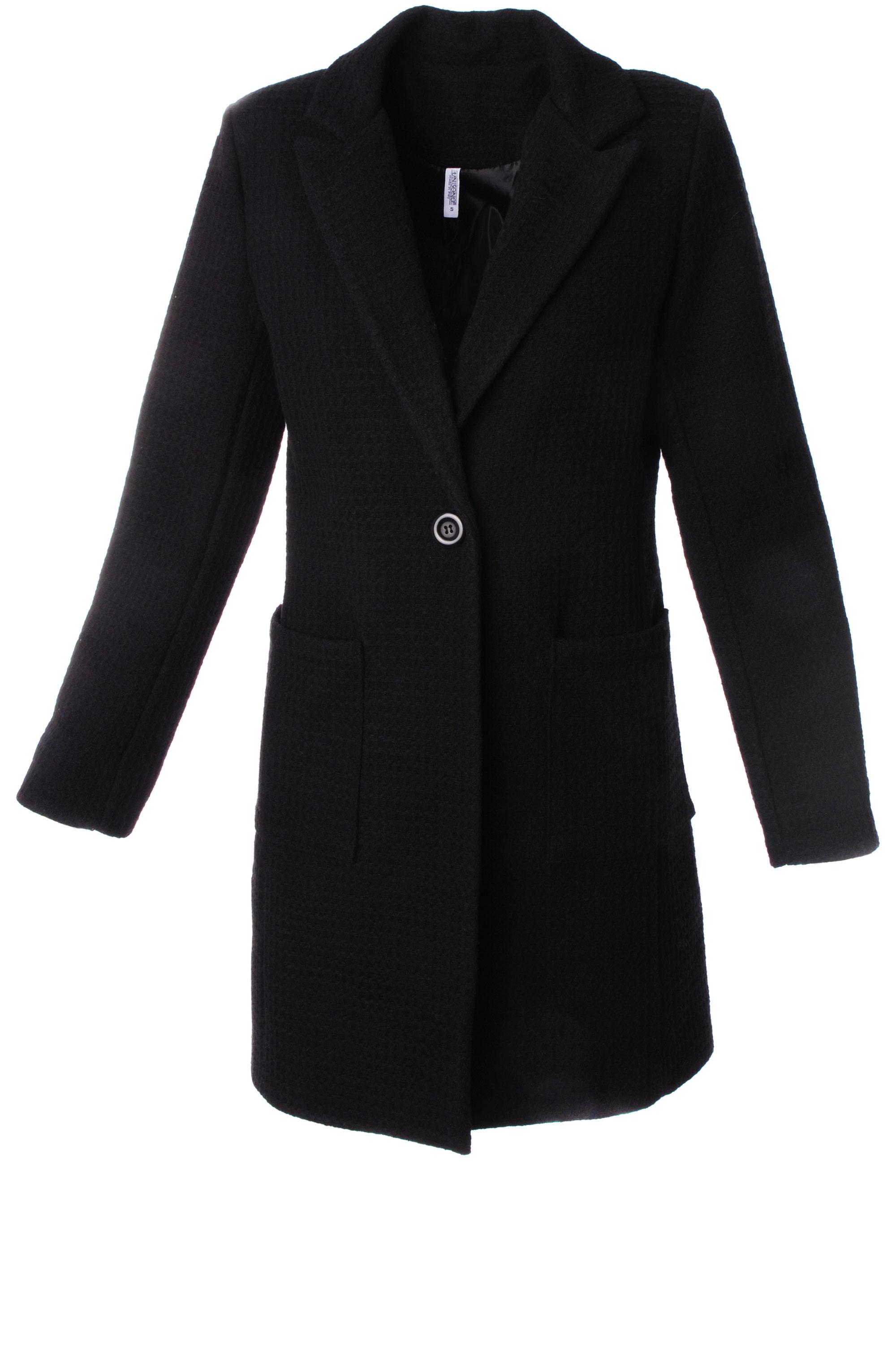 Płaszcz materiałowy - 13-6541 NERO - Unisono