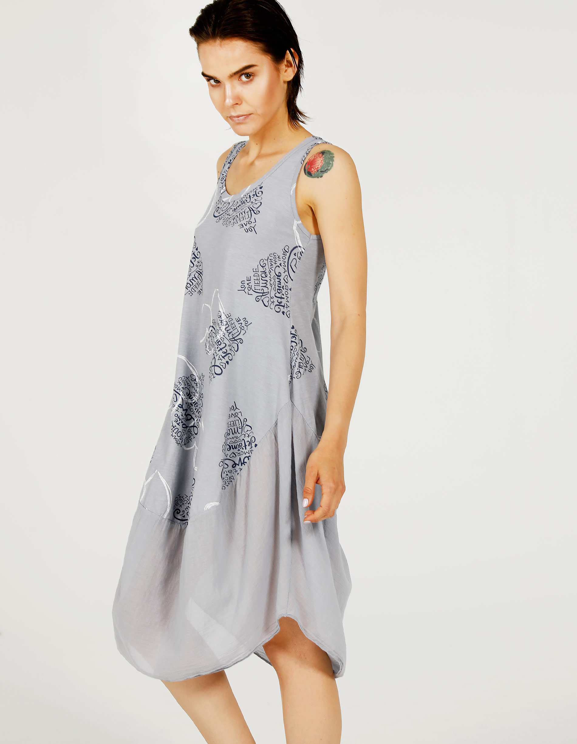 Sukienka - 18-13576O PER - Unisono