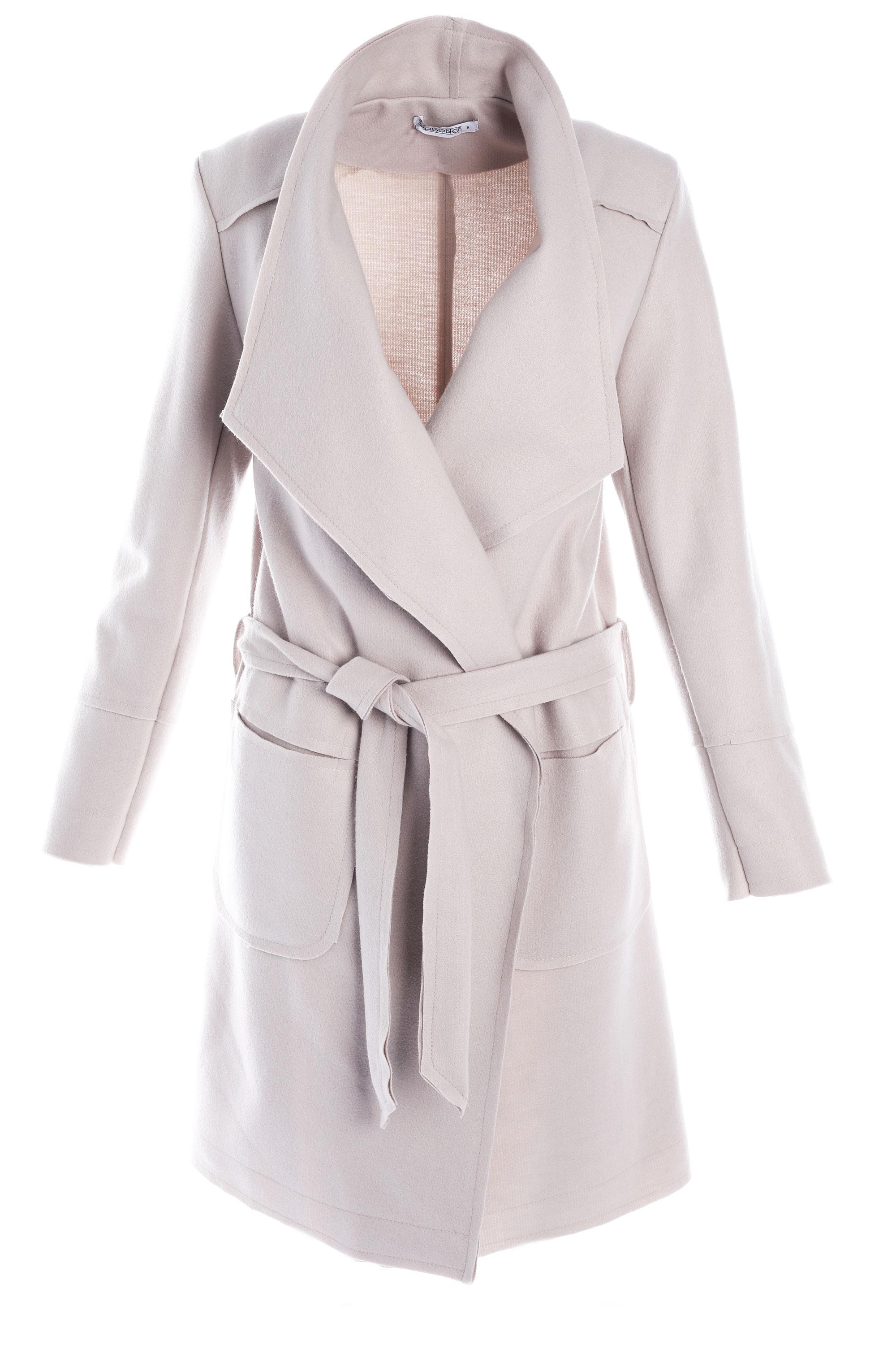 Płaszcz materiałowy - 65-6285-1 BEI - Unisono