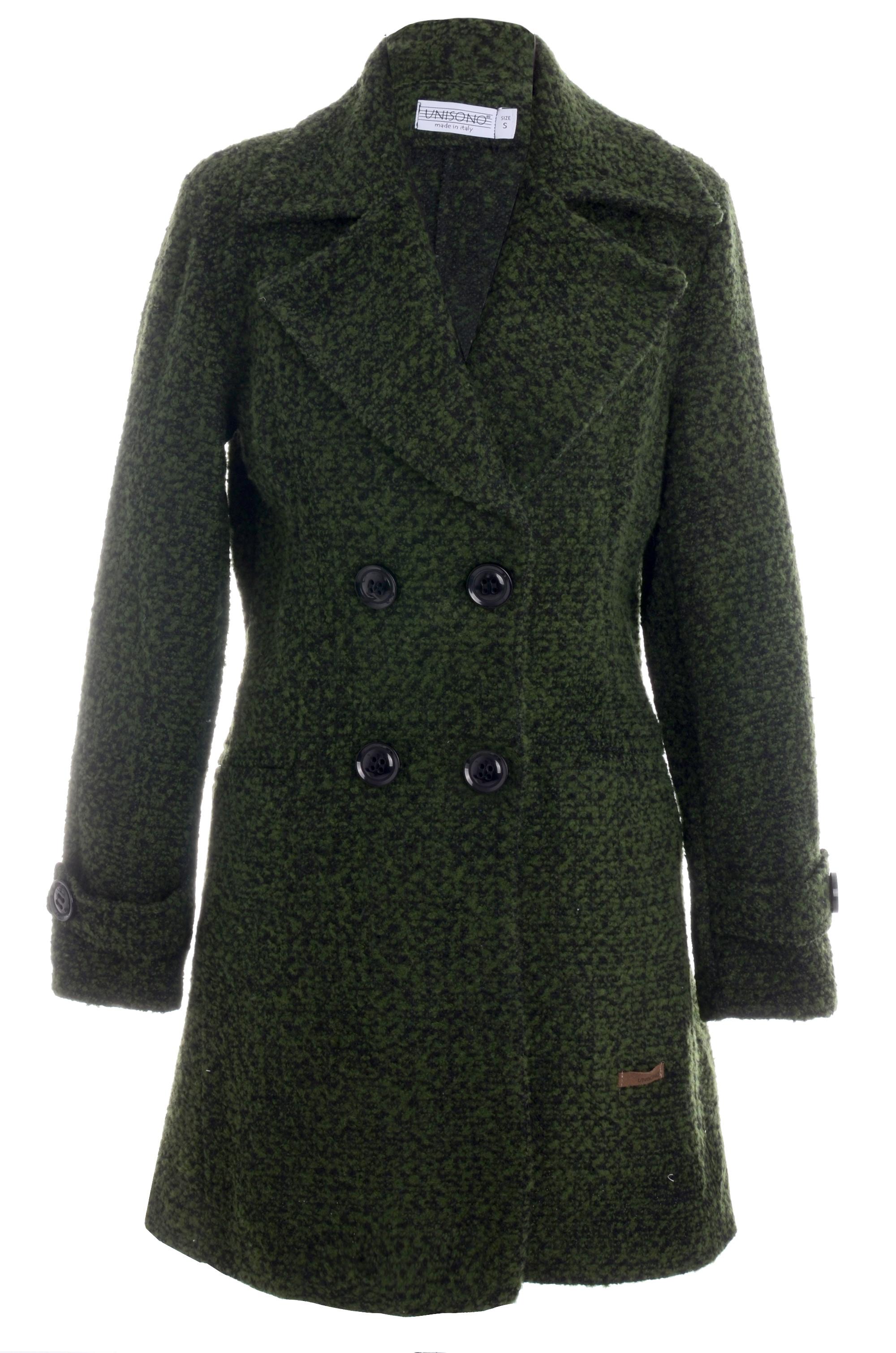 Płaszcz materiałowy - 1-5000 VERDE - Unisono