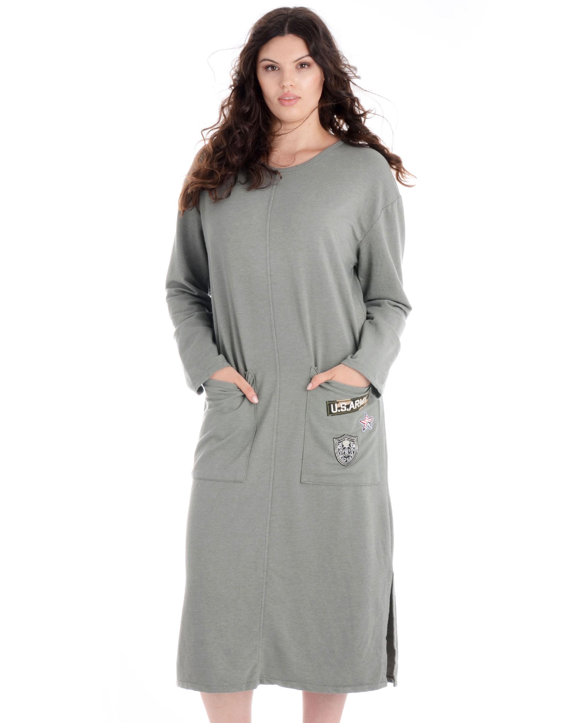 Sukienka - 77-6661 MILIT - Unisono