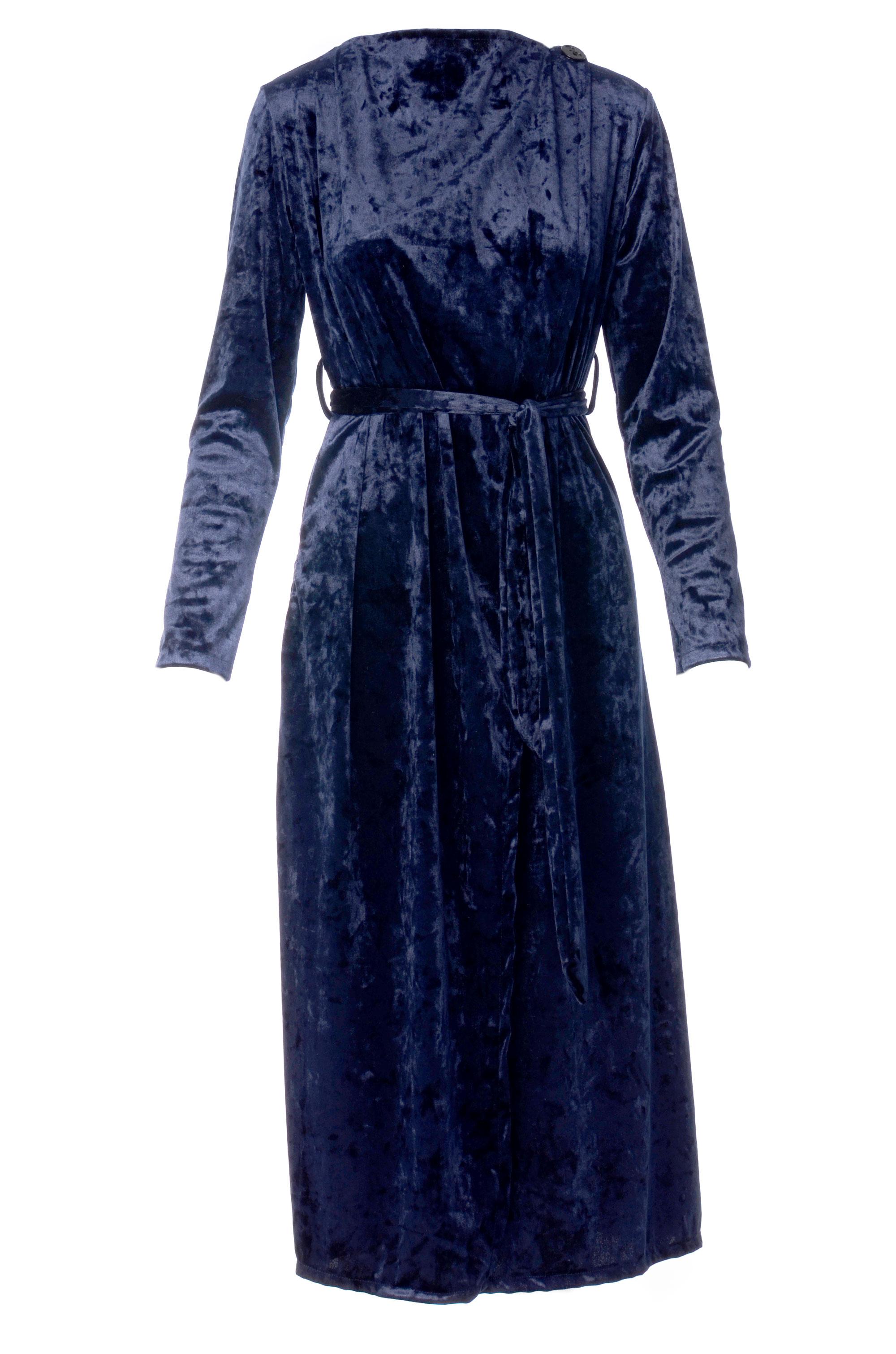 Sukienka - 16-195 BLU SC - Unisono