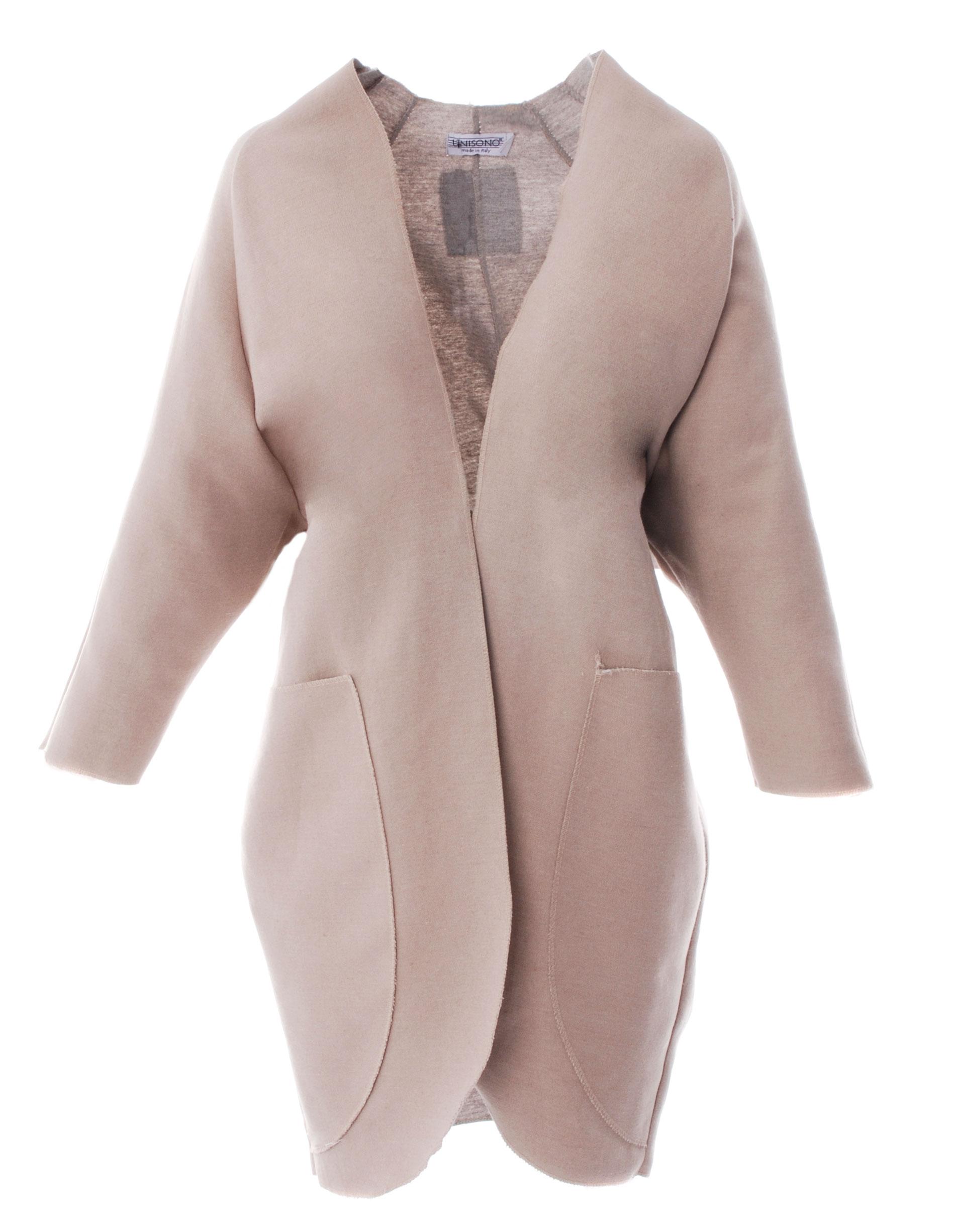 Płaszcz materiałowy - 34-3808 BE-GR - Unisono