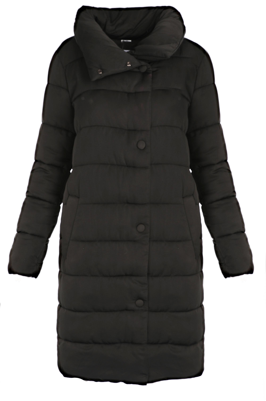 Kurtka materiałowa - płaszcz - 165-T705 NERO - Unisono