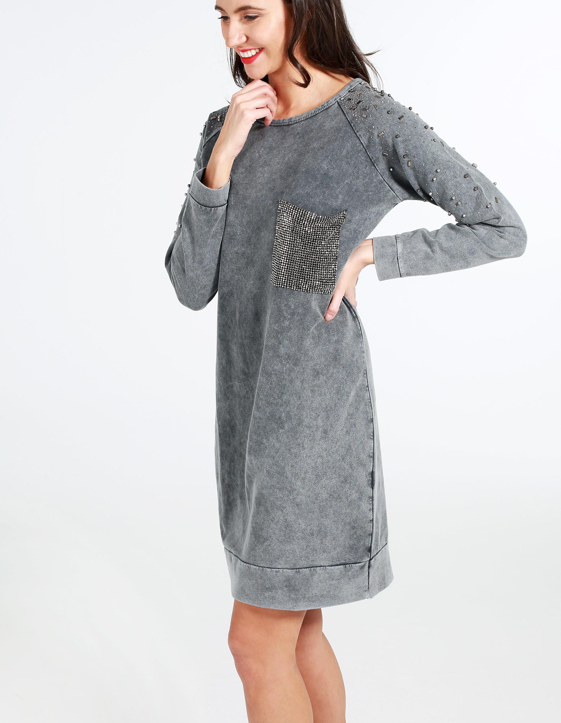 Sukienka - 4-8959 GREY - Unisono