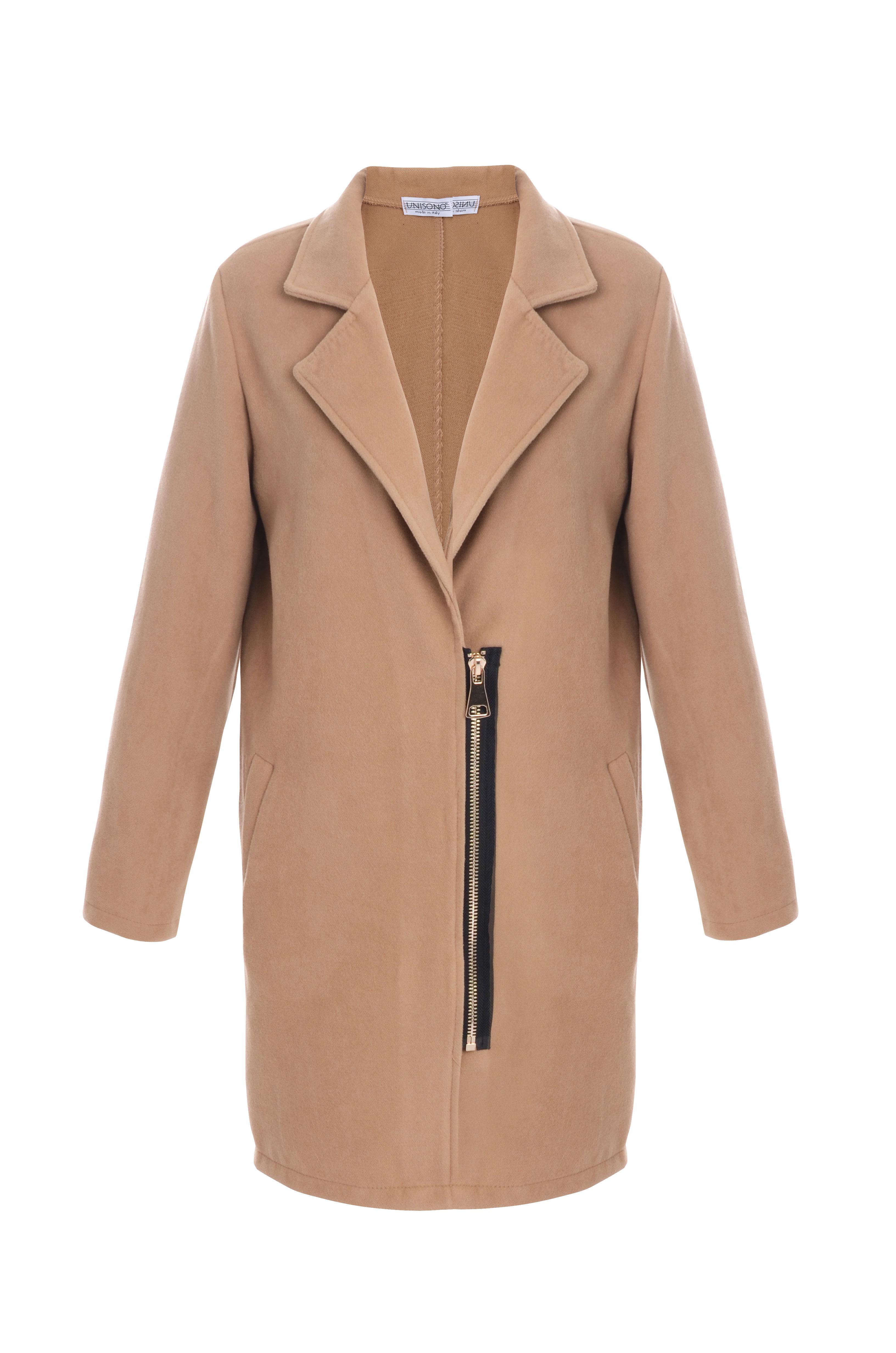 Płaszcz materiałowy - 1-2197 CAMELL - Unisono