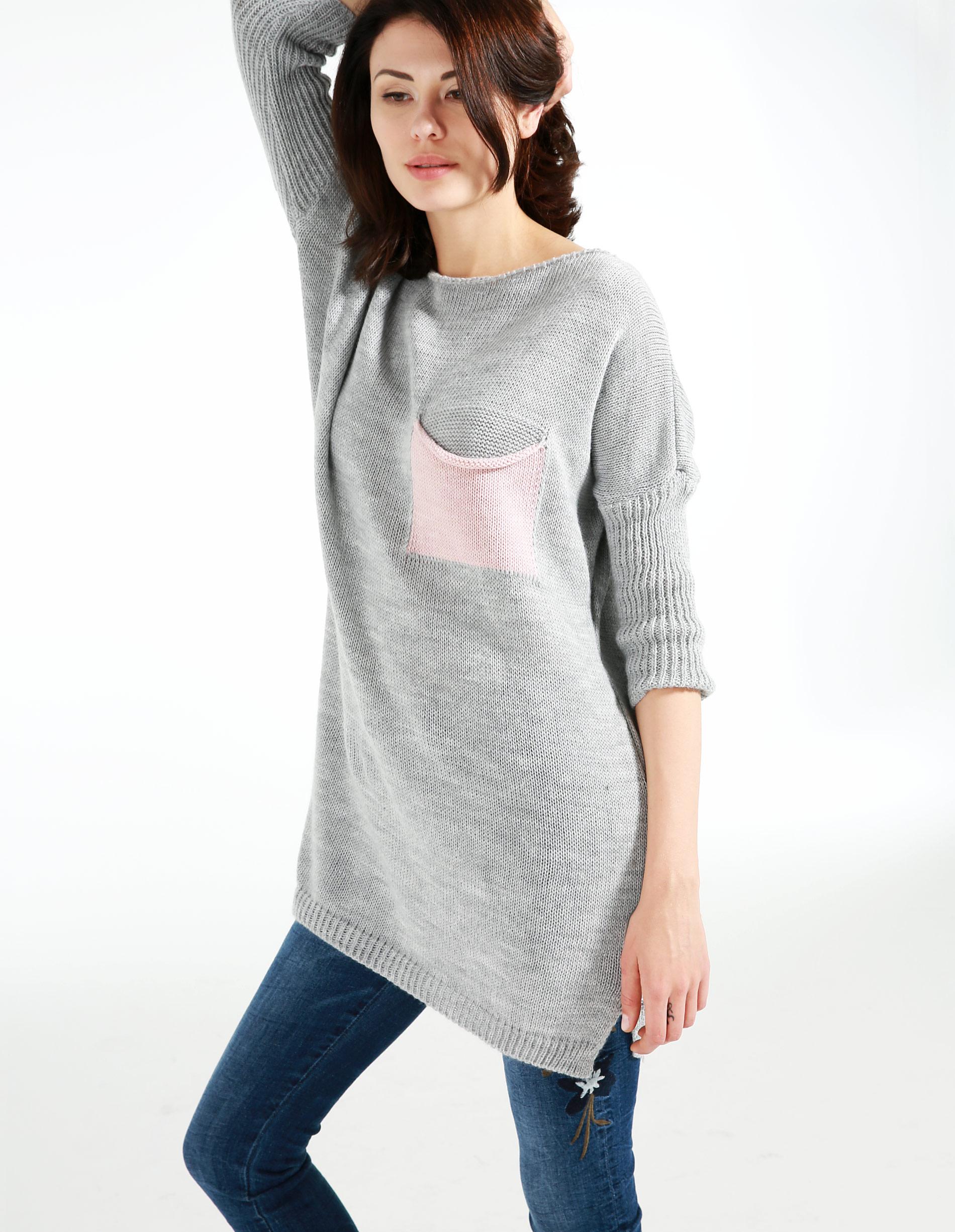 Sweter - 8-828 GRI CHI - Unisono