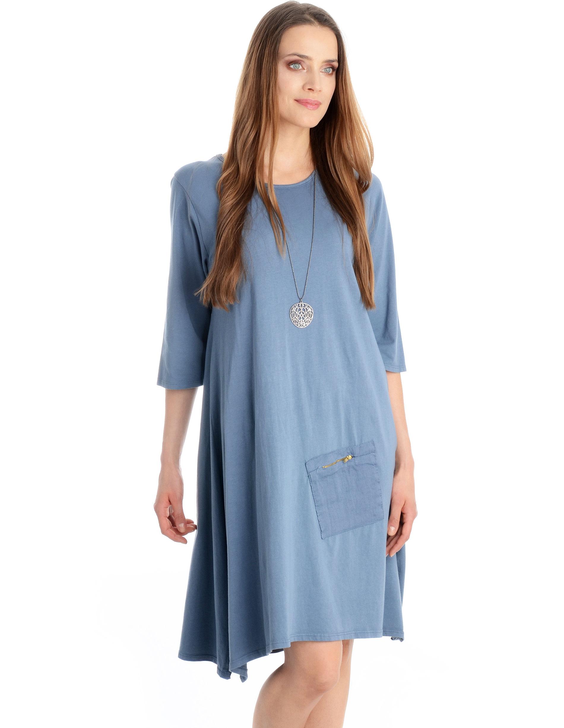Sukienka - 99-7220 JEANS - Unisono