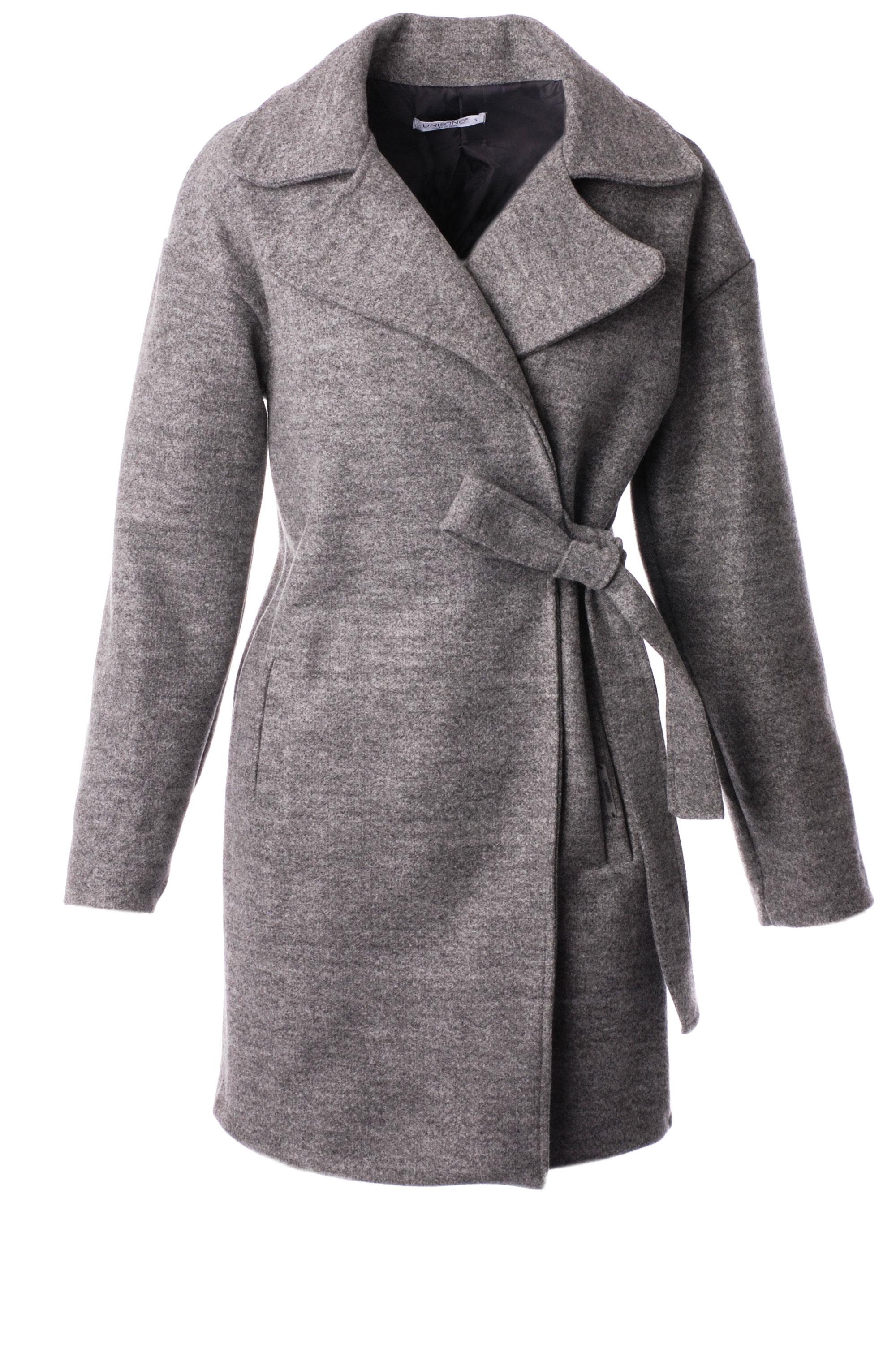 Płaszcz materiałowy - 34-3724 GRIGI - Unisono