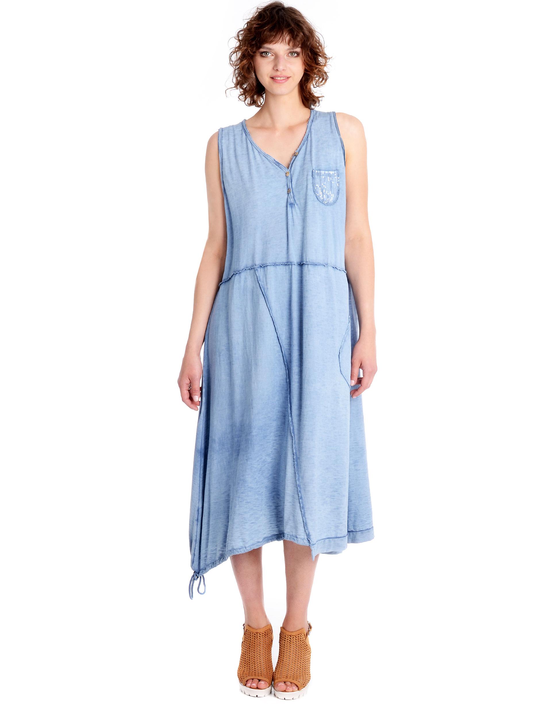 Sukienka - 32-5569 JEANS - Unisono