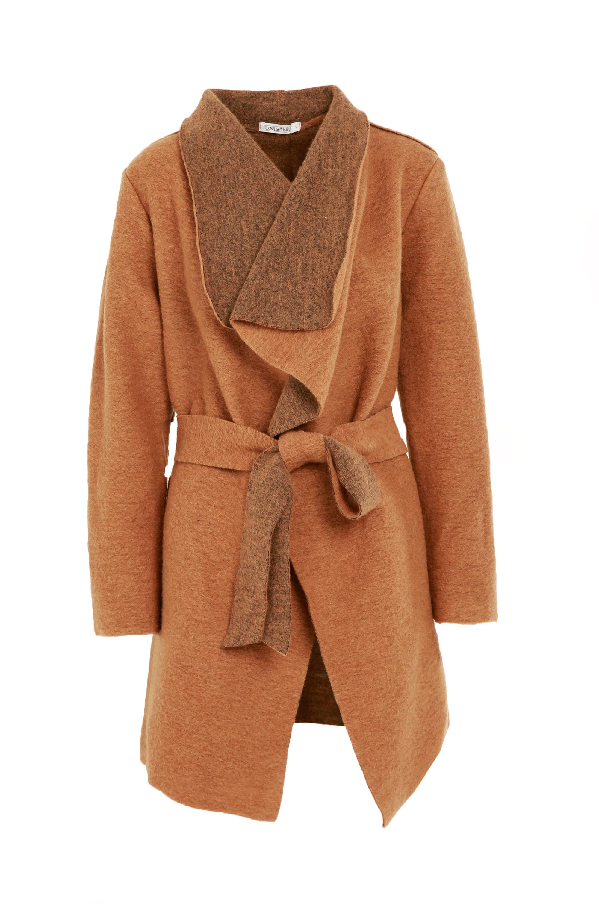 Płaszcz materiałowy - 18-1892 CAMEL - Unisono