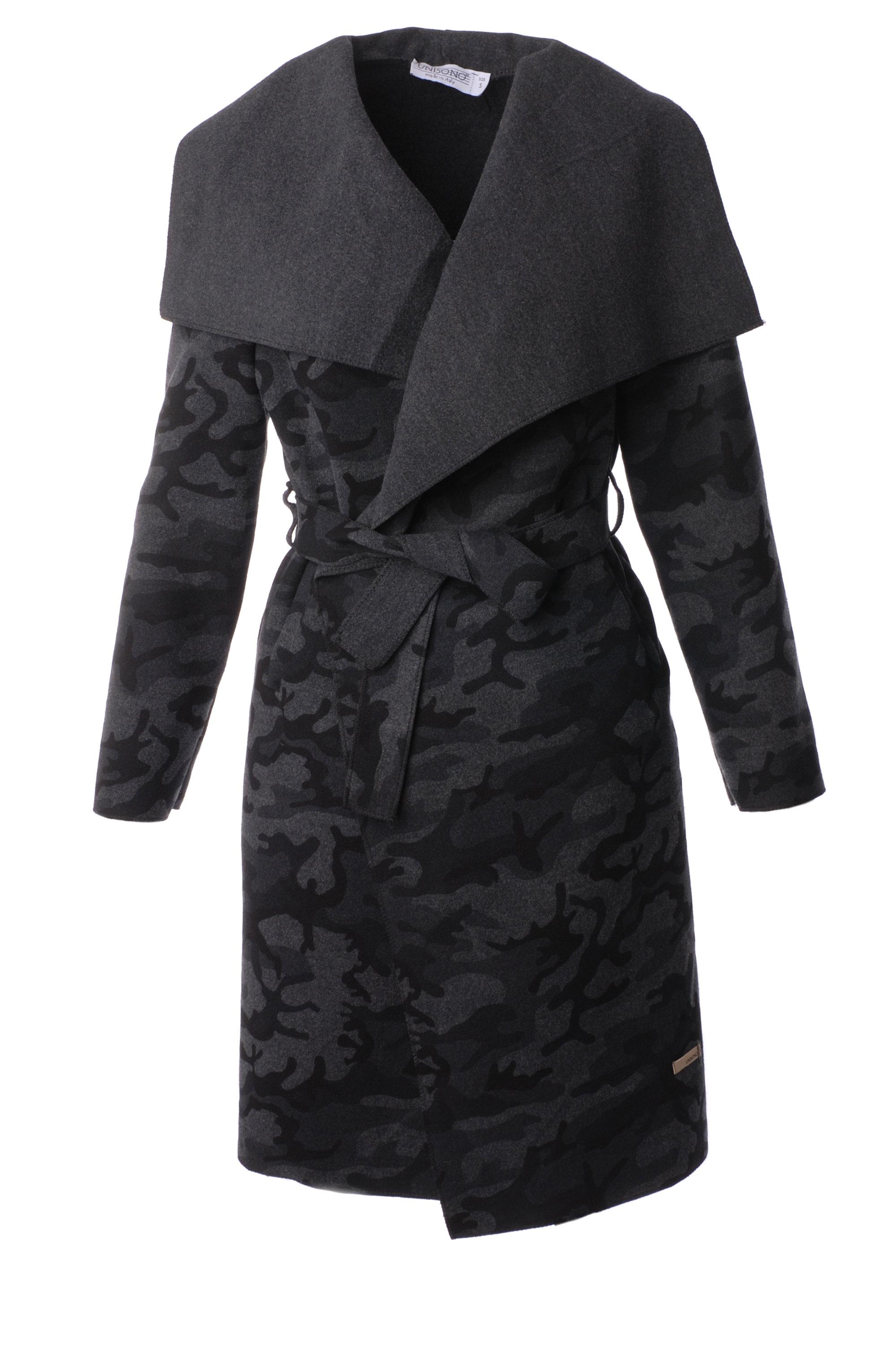 Płaszcz materiałowy - 65-5079LM GRS - Unisono