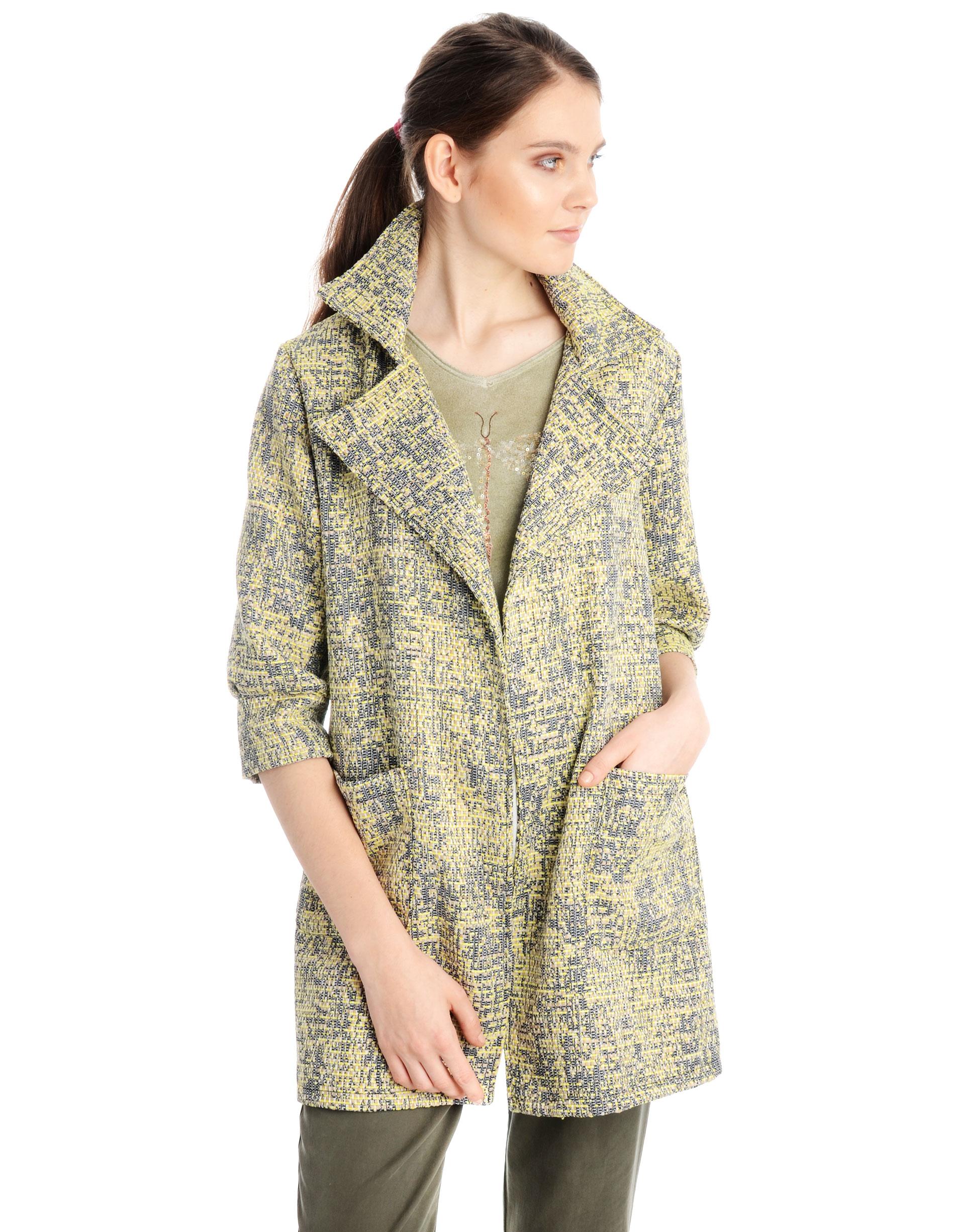 Płaszcz materiałowy - 34-3805 LIMON - Unisono