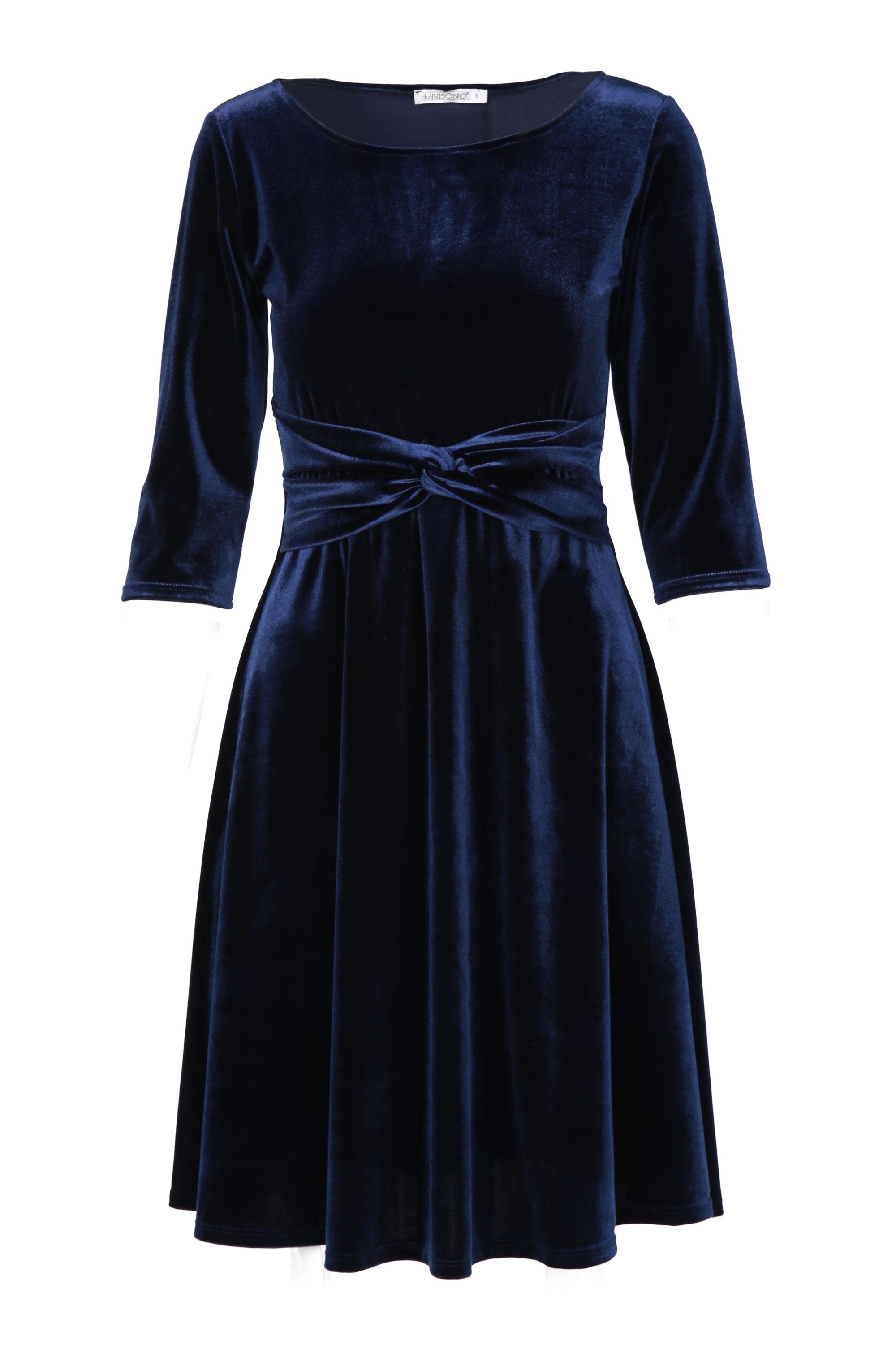 Sukienka - 46-23043U BLU - Unisono