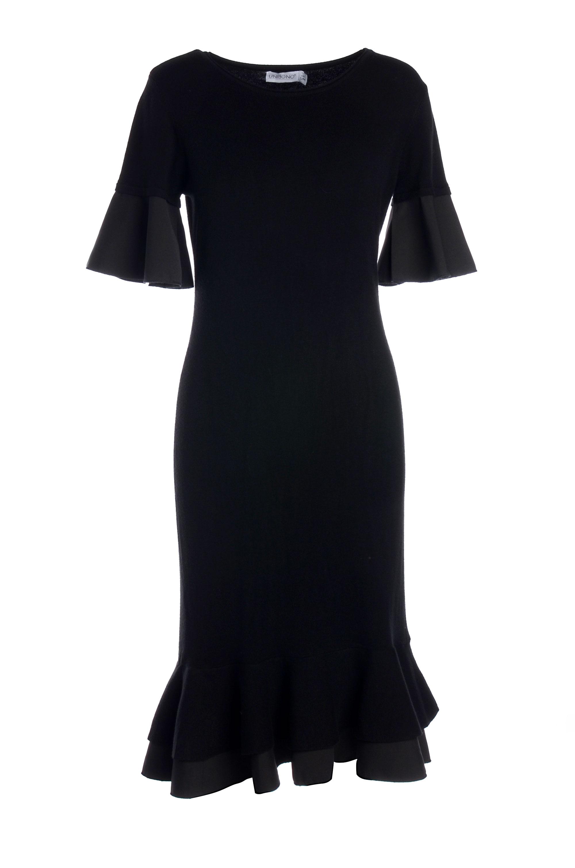 Sukienka - 78-9726 NERO - Unisono
